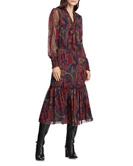 Ralph Lauren - Paisley Print Georgette Midi Dress