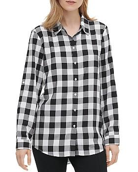 Calvin Klein - Gingham Boyfriend Shirt