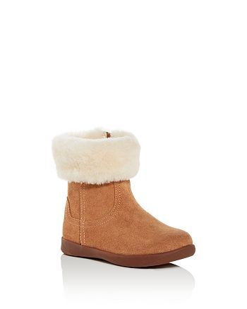 UGG® - Unisex Jorie Suede & Shearling Booties - Walker, Toddler