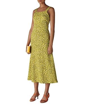 Whistles Llora Clouded Leopard Print Midi Dress-Women