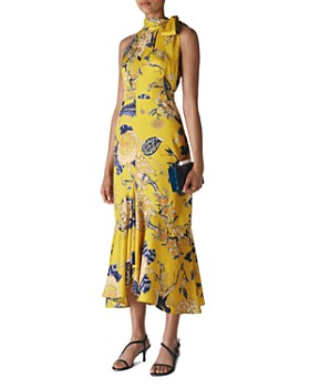 Whistles - Peria Exotic Floral High-Neck Dress