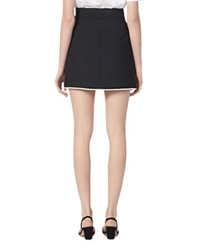 Sandro - Vicky Simulated Pearl-Trimmed Mini Skirt