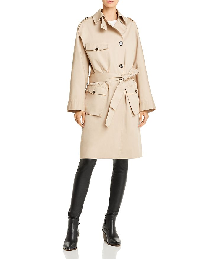 The Kooples - Plaid-Back Trench Coat