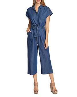 VINCE CAMUTO - Belted Denim Jumpsuit