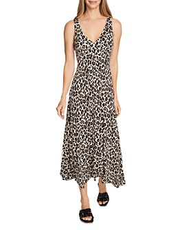 VINCE CAMUTO - Leopard Print Midi Dress