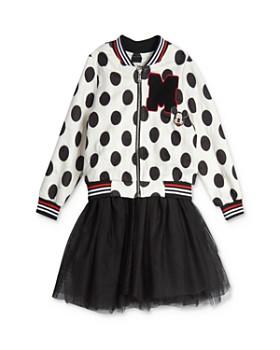 Pippa & Julie - Disney Girls' Mickey Bomber Jacket & Tutu Dress Set - Little Kid
