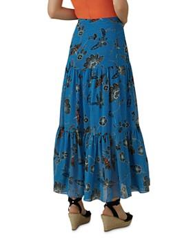 KAREN MILLEN - Tiered Floral Maxi Skirt