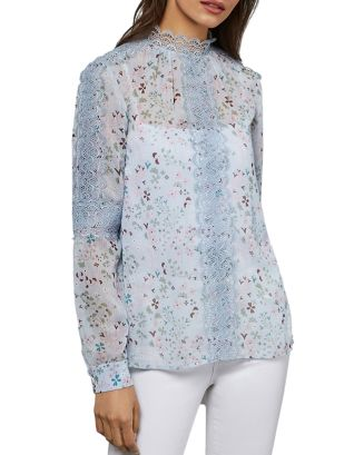 Javiera Lace Trimmed Floral Top by Ted Baker