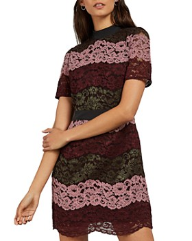 Ted Baker - Jaseyy Color-Blocked Lace Dress