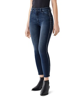 DL1961 - Farrow Frayed Skinny Ankle Jeans in Hassler