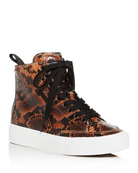 rag & bone - Women's Snake-Embossed High-Top Sneakers