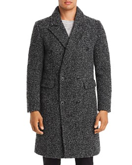 KARL LAGERFELD Paris - Marled Boucle 2-In-1 Overcoat