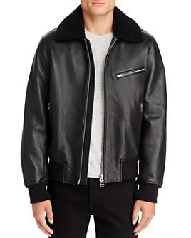 rag & bone - Leather Regular Fit Flight Jacket