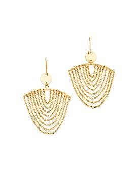 Moon & Meadow - 14K Yellow Gold Chain Drop Earrings - 100% Exclusive