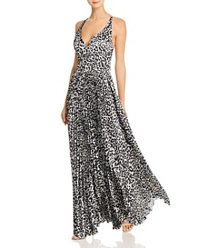 Laundry by Shelli Segal - Animal-Print Pleated Gown