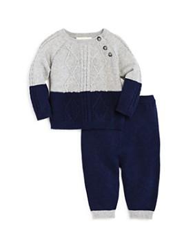 Miniclasix - Boys' Color-Block Sweater & Knit Pants - Baby