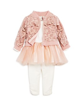 Miniclasix - Girls' Lace Jacket, Tutu Dress & Leggings Set - Baby