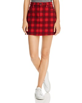 Hudson - Viper Plaid-Printed Mini Skirt