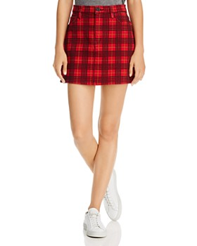 Hudson - Viper Plaid-Printed Mini Skirt