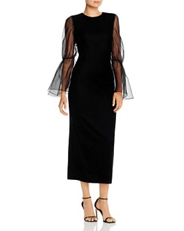 Paper London - Dawn Sheer-Sleeve Lady Lux Dress