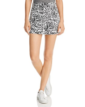 Hudson - Viper Leopard-Printed Mini Skirt