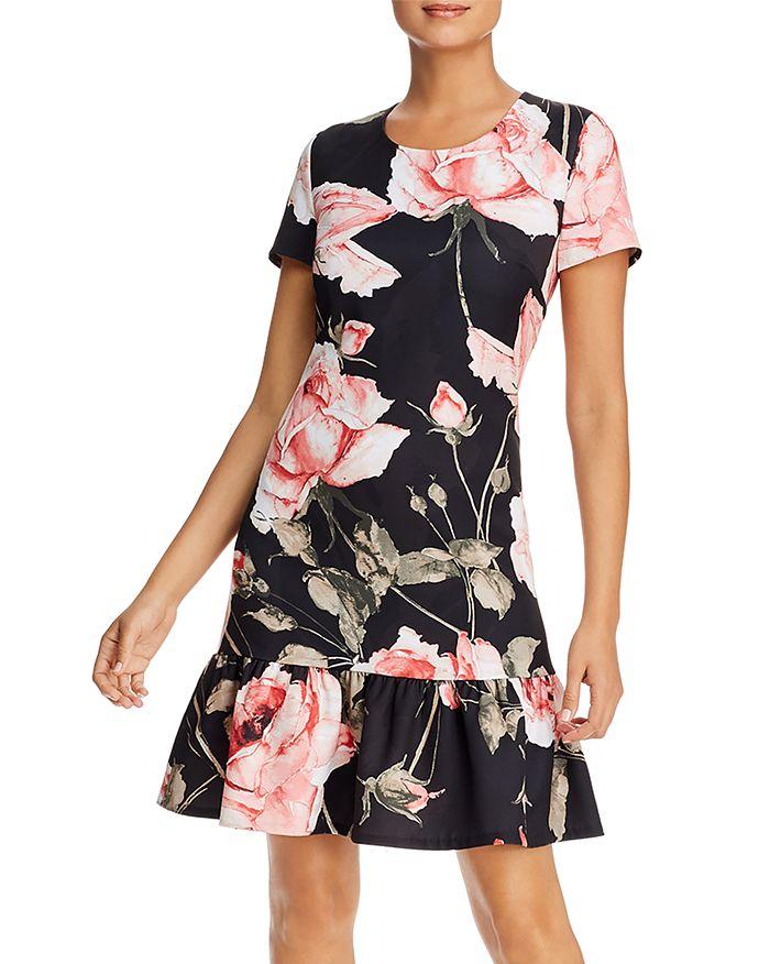 KARL LAGERFELD Paris - Floral-Print Flounce-Hem Dress