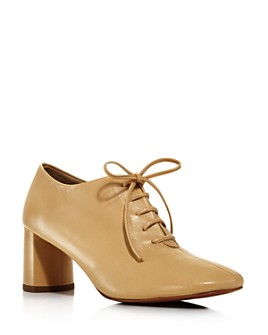 LoQ - Women's Fernanda Lace-Up Block Heel Loafers