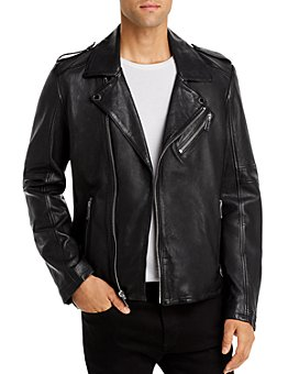 KARL LAGERFELD PARIS - Bonded Leather Regular Fit Jacket