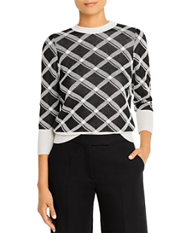 Marella - Nastie Geo-Print Virgin Wool-Blend Sweater