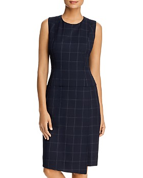 Donna Karan - Windowpane Sheath Dress