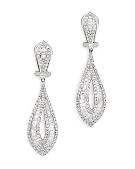 Bloomingdale's - Diamond Statement Drop Earrings in 14K White Gold, 3.0 ct. t.w. - 100% Exclusive