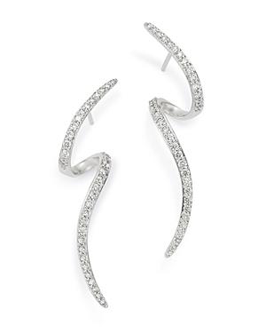Bloomingdale's Diamond Swirl Drop Earrings in 14K White Gold, 0.60 ct. t.w. - 100% Exclusive