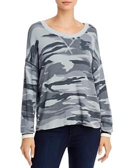 Splendid - Drop-Shoulder Camo Top