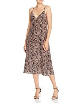 FRAME - Snake Print Silk Slip Dress