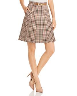 Tory Burch - Pleated Plaid Mini Skirt