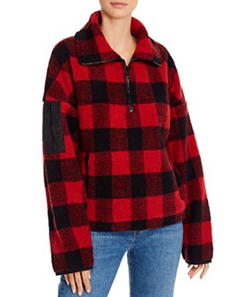 AQUA - Half-Zip Sherpa Faux Fur Jacket - 100% Exclusive