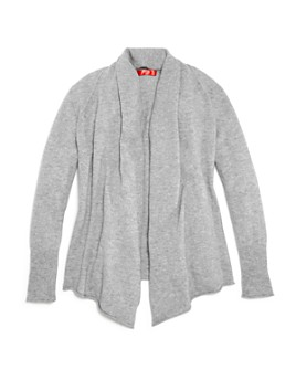 AQUA - Girls' Cashmere Open Cardigan, 100% Exclusive - Big Kid