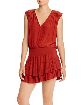 Ramy Brook - Bernice Smocked-Waist Mini Dress