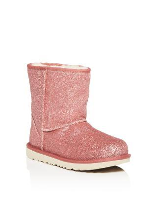 UGG® Girls' Classic Short Glitter Boots