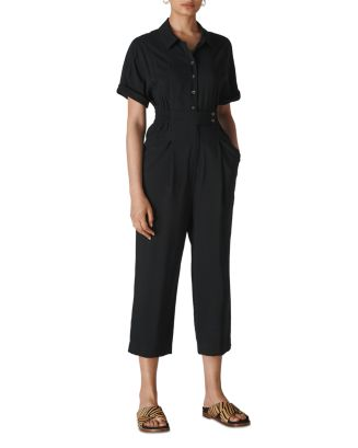 Lidia Short Sleeve Cropped Jumpsuit by Whistles