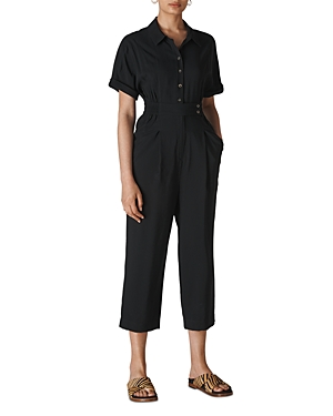 Whistles Suits LIDIA SHORT-SLEEVE CROPPED JUMPSUIT