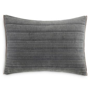 "Vera Wang - Shadow Stripe Horizontal Channel Decorative Pillow, 12"" x 16"""