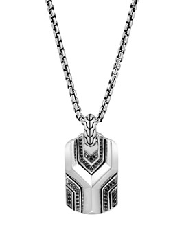 JOHN HARDY - Sterling Silver Classic Chain Pendant with Black Sapphire & Black Spinel, 26""