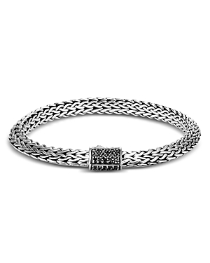 John Hardy Sterling Silver Tiga Classic Chain Black Sapphire Bracelet