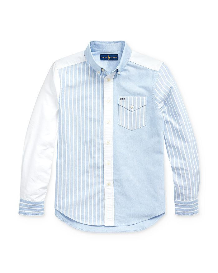 Ralph Lauren - Boys' Striped Color-Block Button-Down Shirt - Big Kid