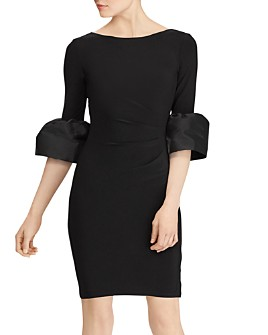 Ralph Lauren - Taffeta-Jersey Dress