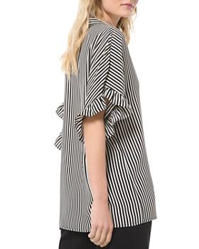 MICHAEL Michael Kors - Striped Ruffled-Cuff Button-Down Shirt
