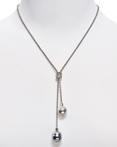 """Majorica Love Knot Simulated Pearl Lariat Necklace, 16"""" - Bloomingdale's_0"""
