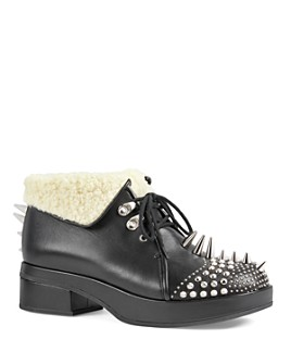 Gucci - Women's Leather Booties with Spikes & Studs