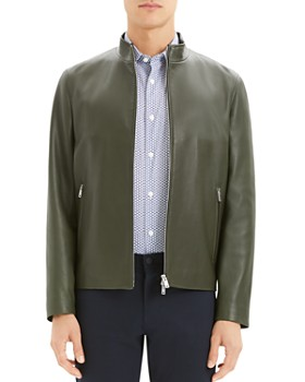 Theory - Morvek Kelleher Regular Fit Leather Jacket